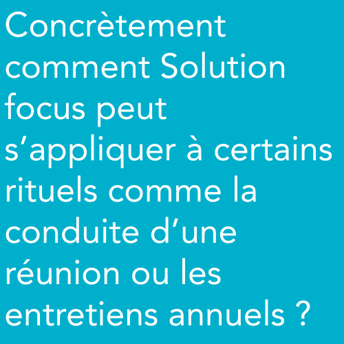 Solution Focus et rituels